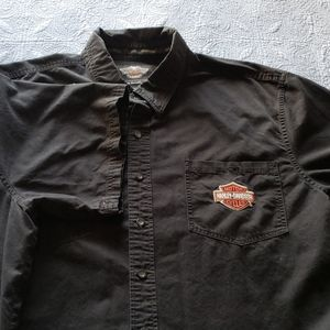 Men's 3XL black Harley-Davidson button up shirt